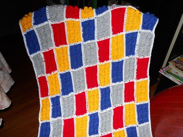 Lego afghan Crochet Pinterest