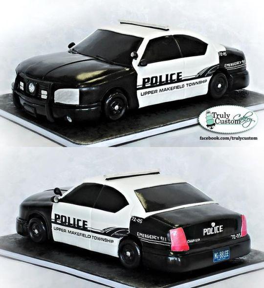 Police Car Groom Cake Idea