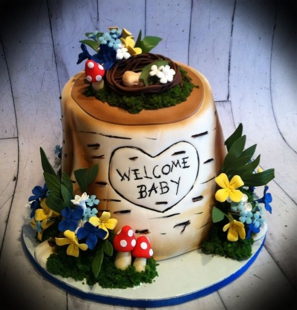 woodland baby shower cake baby shower gender reveal pinterest