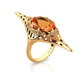 Venus Ring Citrine Set In Ct Gold With Diamond Accents Christmas