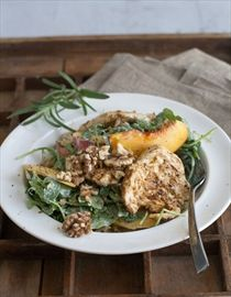 ... story/4755817-grilled-chicken-paillards-with-peach-and-arugula-salad