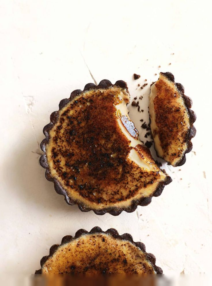 chocOlate espresso brulee tarts | Tasty Break Treats | Pinterest