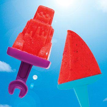 Rhubarb Strawberry Ice Pops | Recipes | Pinterest