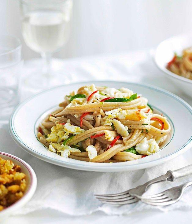 Crab, mint and lemon spelt pasta - Gourmet Traveller