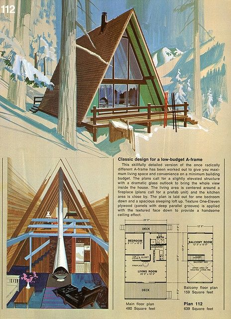 A frame cabin cool a frames pinterest for A frame cottage floor plans