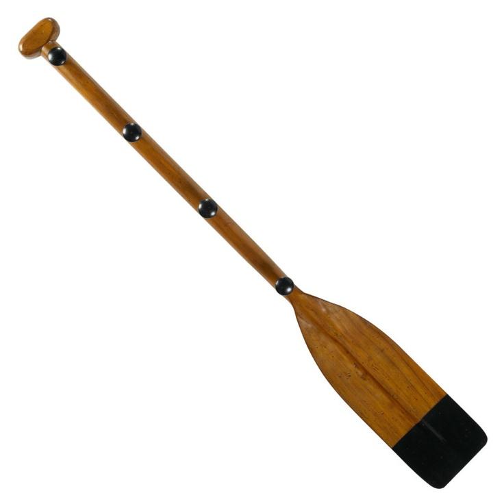 Authentic Models Wooden Oar Kids Coat Rack Hook Black 47