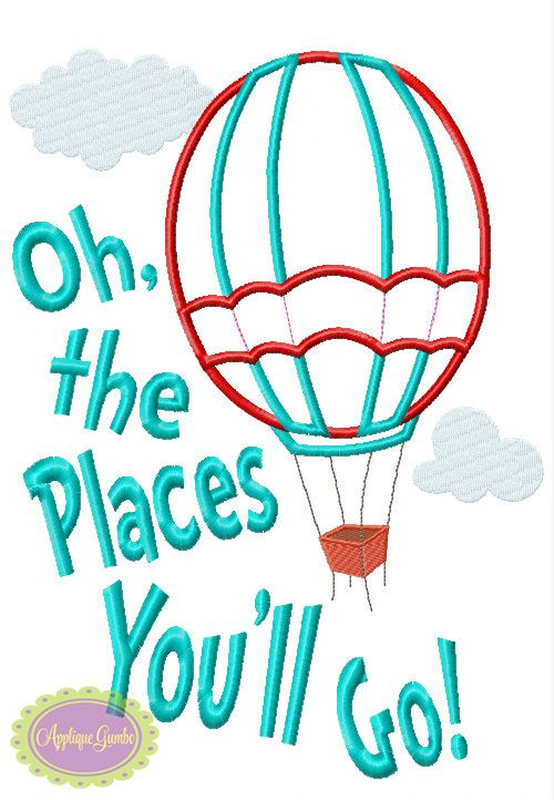 Oh the places you 39 ll go hot air balloon seuss inspired for Oh design