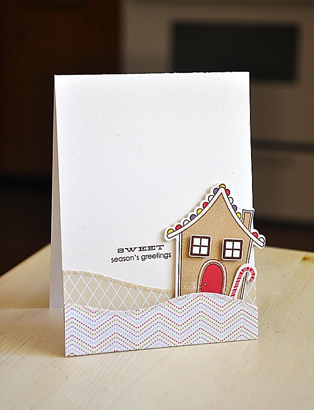 Gingerbread Greetings Card by Maile Belles for Papertrey Ink (September 2012)