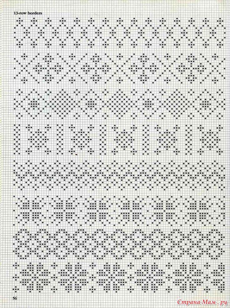 Узоры для вязания жаккард 205