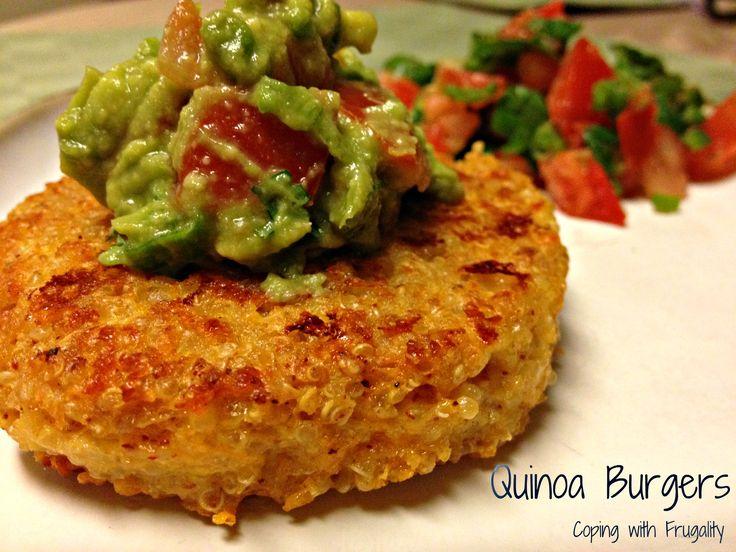Quinoa burgers. used Greek Yogurt instead of cottage cheese.