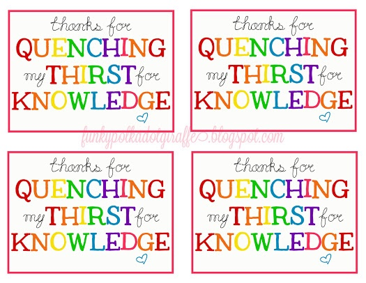quench the thirst for knowledge free printable   just b.CAUSE
