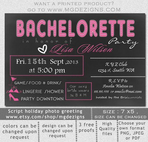 Free Bachelorette Party Invitations is an amazing ideas you had to choose for invitation design