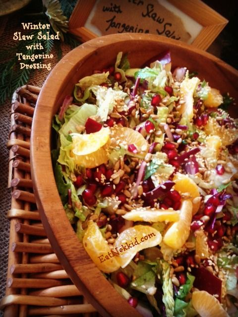 Winter Slaw Salad... 3 cabbages and mixed greens... NC mountain apples ...