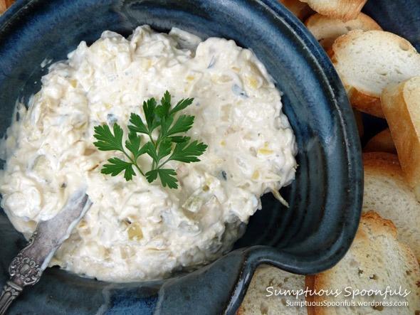 Creamy Lemon Artichoke Dip | Appetizers... hors-d'oeuvres... tapas ...