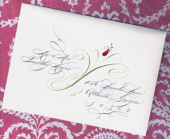 Custom Wedding Invitation Addressing Elegant Calligraphy