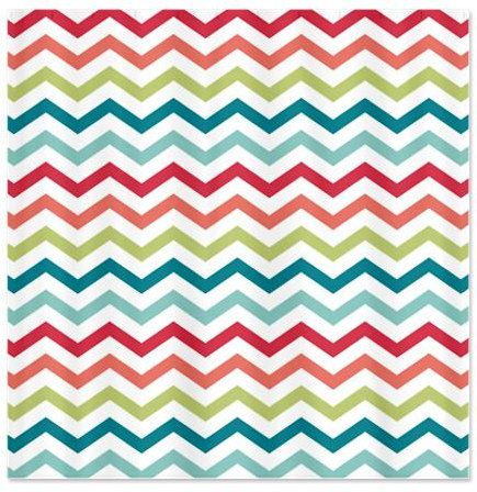 Tropical paradise chevron shower curtain by happygraphicsshop 65 00