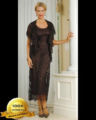 Soulmates Crochet Silk Dress & Jacket