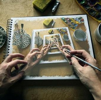 loop artistico mani