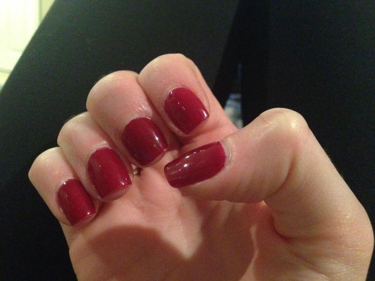 Red Gel Manicure | Nails! | Pinterest
