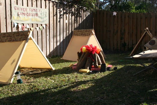 Camping In The Backyard With Toddlers : Backyard Camping