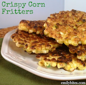 Emily Bites - Weight Watchers Friendly Recipes: Crispy Corn Fritters