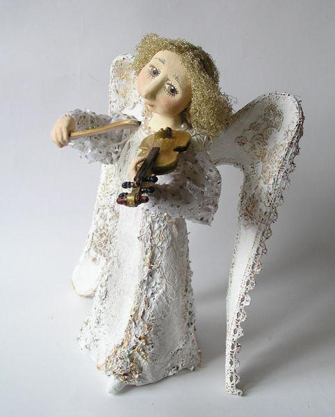 Авторская кукла ангел своими руками 42