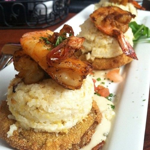 shrimp and grits,fried green tomatoes | DINING OUT /GOOD TO GO =YUM ...
