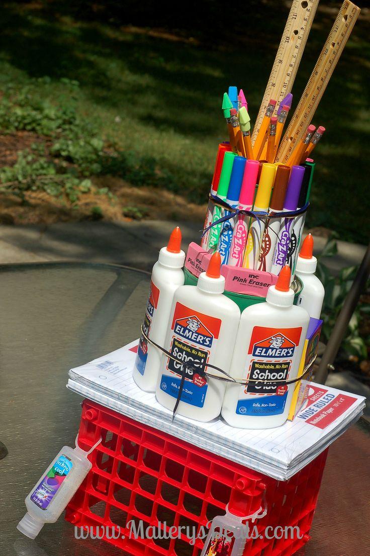 AWESOME High School Teacher School Supply Cake #bagitforward