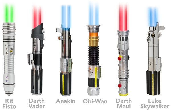 Star Wars Force FX Removable Blade Lightsabers - The blades light from the bottom up (with sound, of course) and fade from the top down (again, with sound).