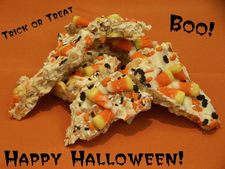 Candy Corn Oreo Cookie Bark Recipe — Dishmaps
