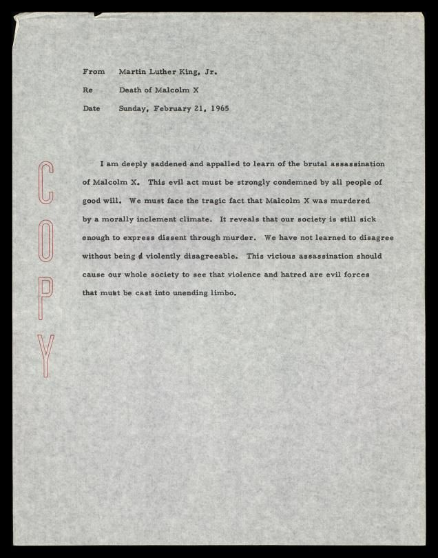 thesis statements on martin luther king jr Martin luther king jr's letter from birmingham jail, which was written in april 16,  king's main thesis in writing the birmingham letter is that,.