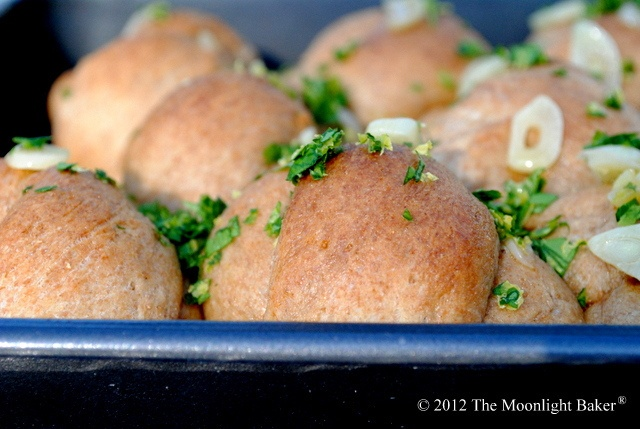 Whole Wheat Garlic Knots by The Moonlight Baker