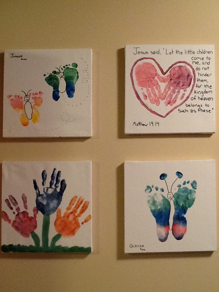 Hands and feet crafts good for the kids pinterest for Hand and foot crafts