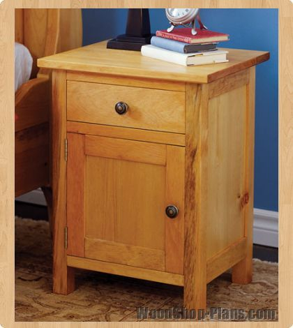 Amazing Mission Contemporary Nightstand Woodworking Plan