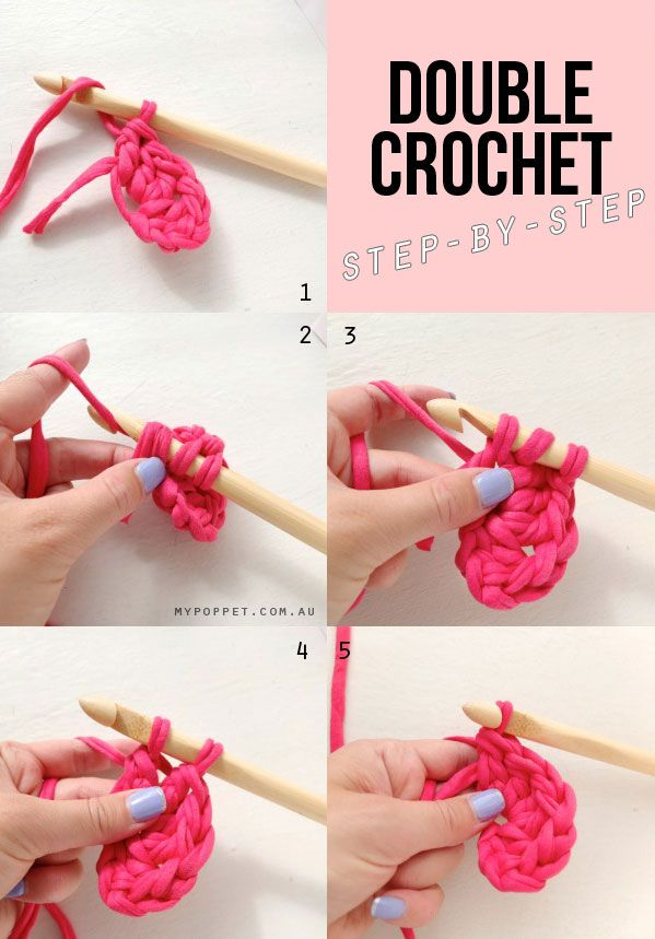 Crochet Stitches Step By Step : Double crochet stitch, step by step stitch, sew, quilt, hook, knit ...