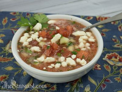 Watermelon and Tomato Gazpacho | Recipes to Try | Pinterest