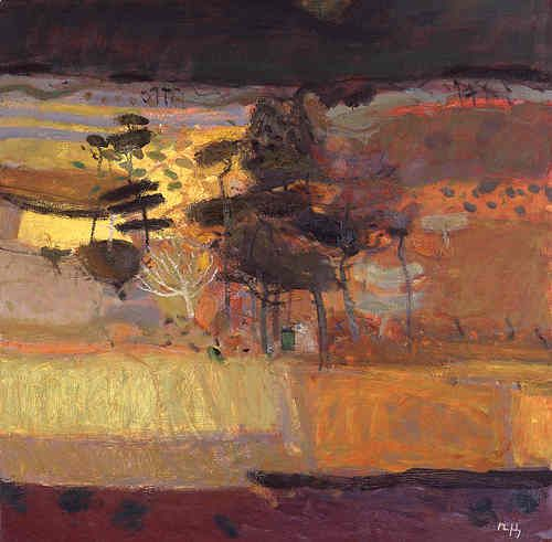 Sandy Murphy (Scottish artist) - Autumn Wood, oil painting.