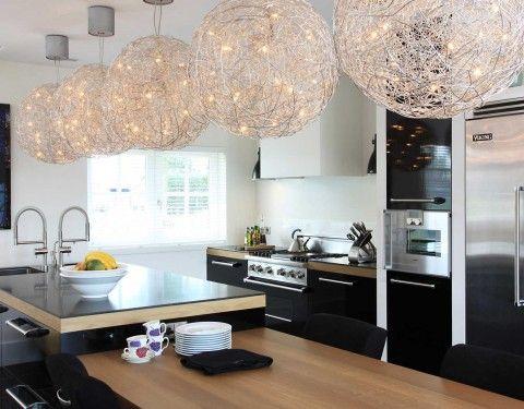 Lampen Boven Aanrecht : Industriele keuken hanglampen boven aanrecht
