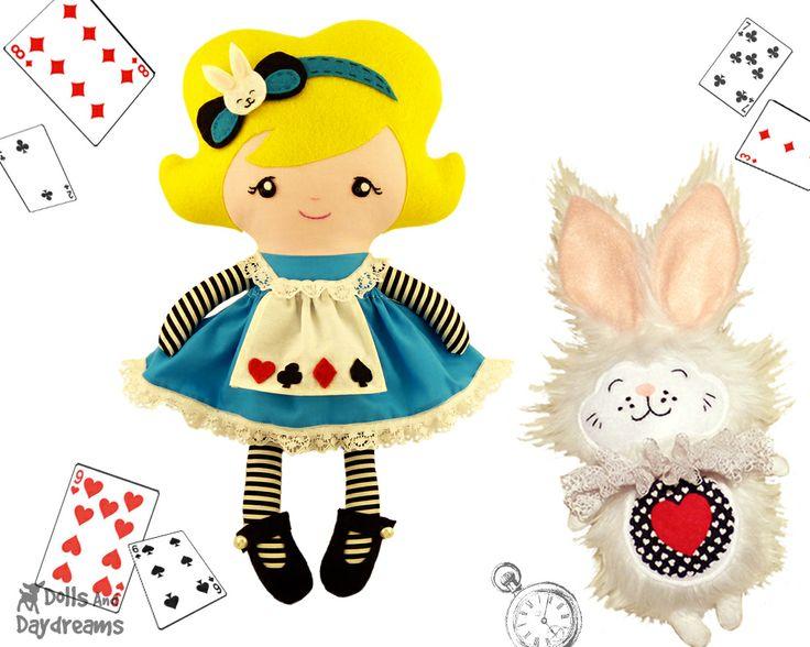 Куклы и грезы / Алиса в стране чудес выкроек и кролика
