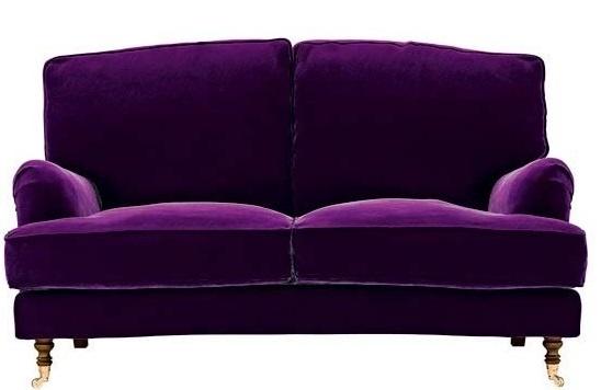 Purple Velvet Sofa I Want This Pinterest