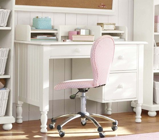 Pottery Barn Kids Small Desk and Hutch 558 x 492