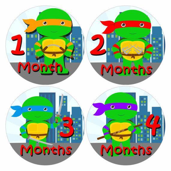 baby monthly stickers teenage mutant ninja turtles baby shower gi