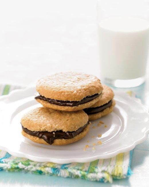 Chocolate Peanut-Butter Sandwich Cookies Recipe