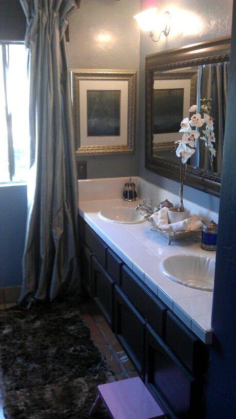 Blue And Brown Bathroom Interior Design Pinterest