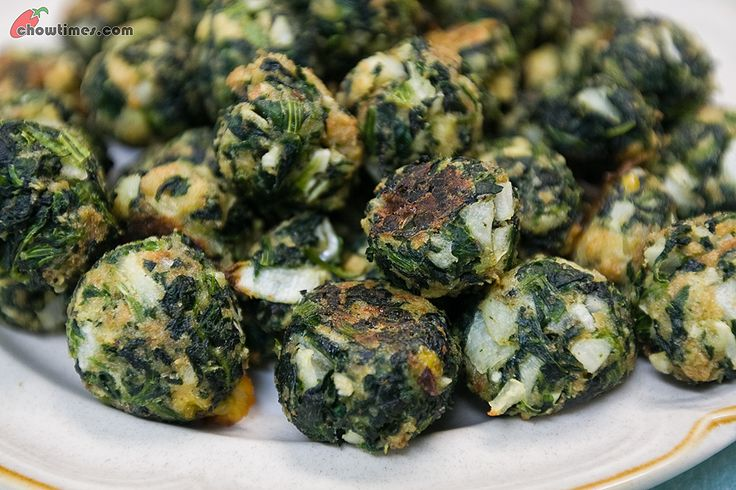 spinach balls...these were very good-served with marinara sauce
