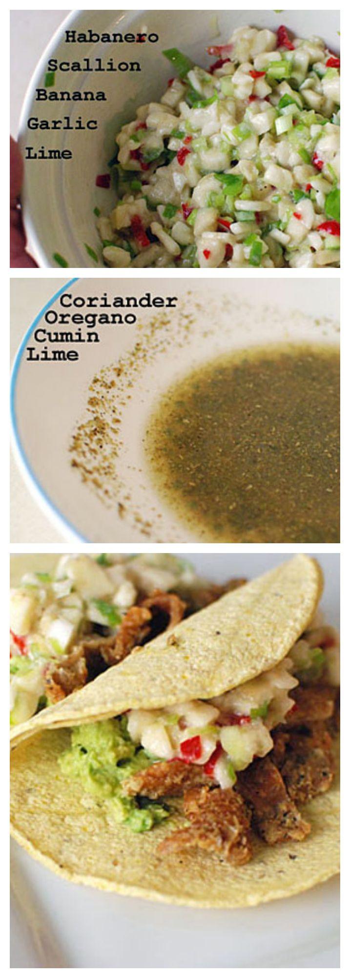 Chicken Skin Tacos with Habanero Banana Salsa | Recipe