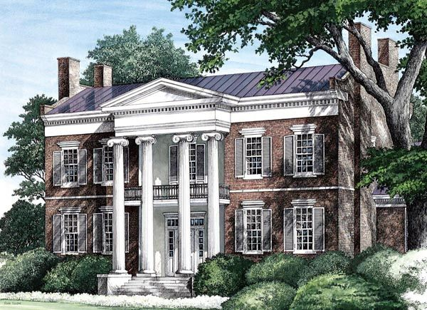 Colonial plantation southern house plan 86274 for Classical style house