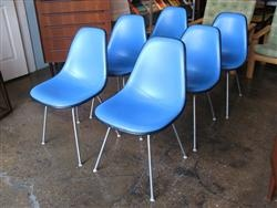 set of 6 padded eames scoop chairs eames pinterest