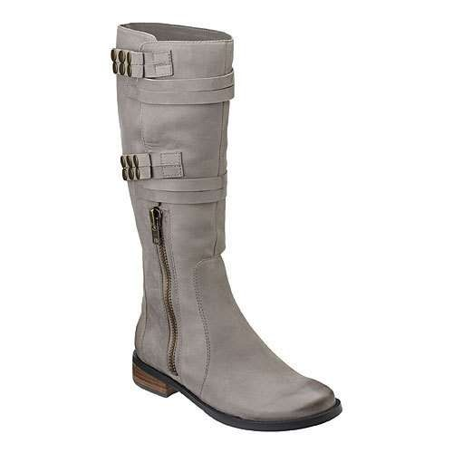 gray leather boots my style