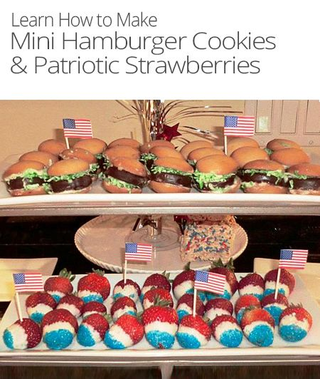 Easy Desserts: Mini Hamburger Cookie | Desserts & Sweets | Pinterest